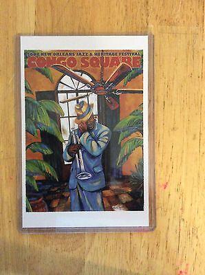 2008 New Orleans Congo Square Poster Postcard Kermit Ruffins Margaret Slade