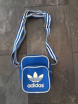 adidas originals shoulder bag messenger bag blue white