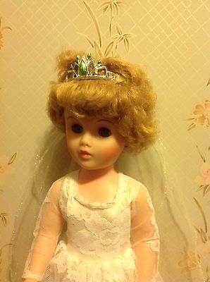 "20"" Vintage Plastic Bride Doll - Marked A"