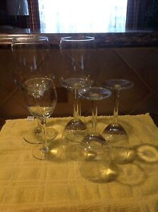 Fancy etched crystal wine glasses
