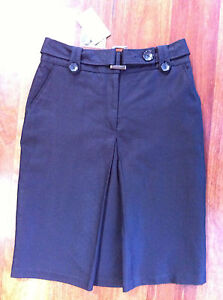 Barkins black linen/cotton skirt - size 10 - New with tags