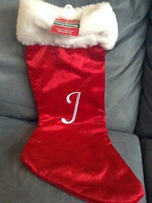 Monogrammed Christmas Stocking (CVS MERRY BRIGHT MONOGRAM CHRISTMAS STOCKING 20