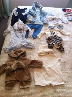 Boys baby clothes 0-3 months Moana Morphett Vale Area Preview