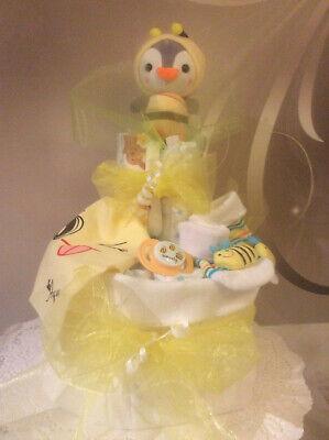 Windeltorten Geschenk Taufe ,Geburt ,Babykleidung,Pinguinbaby im - Geburt Kostüme