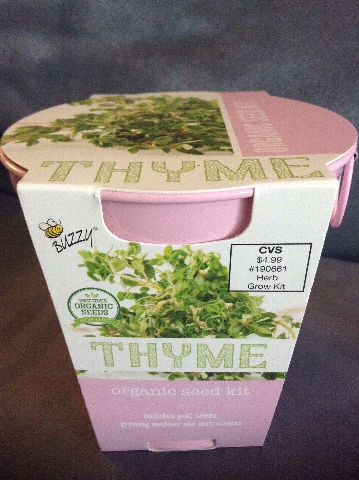 Upc 698942709374 Buzzy Thyme Organic Herb Seed Kit Pink Pail