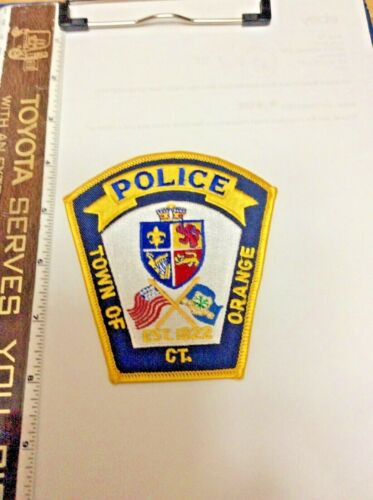Orange Connecticut Police Shoulder Patch official issue New