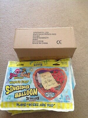 Box of 6 Singing Ballons,Jumbo size 28