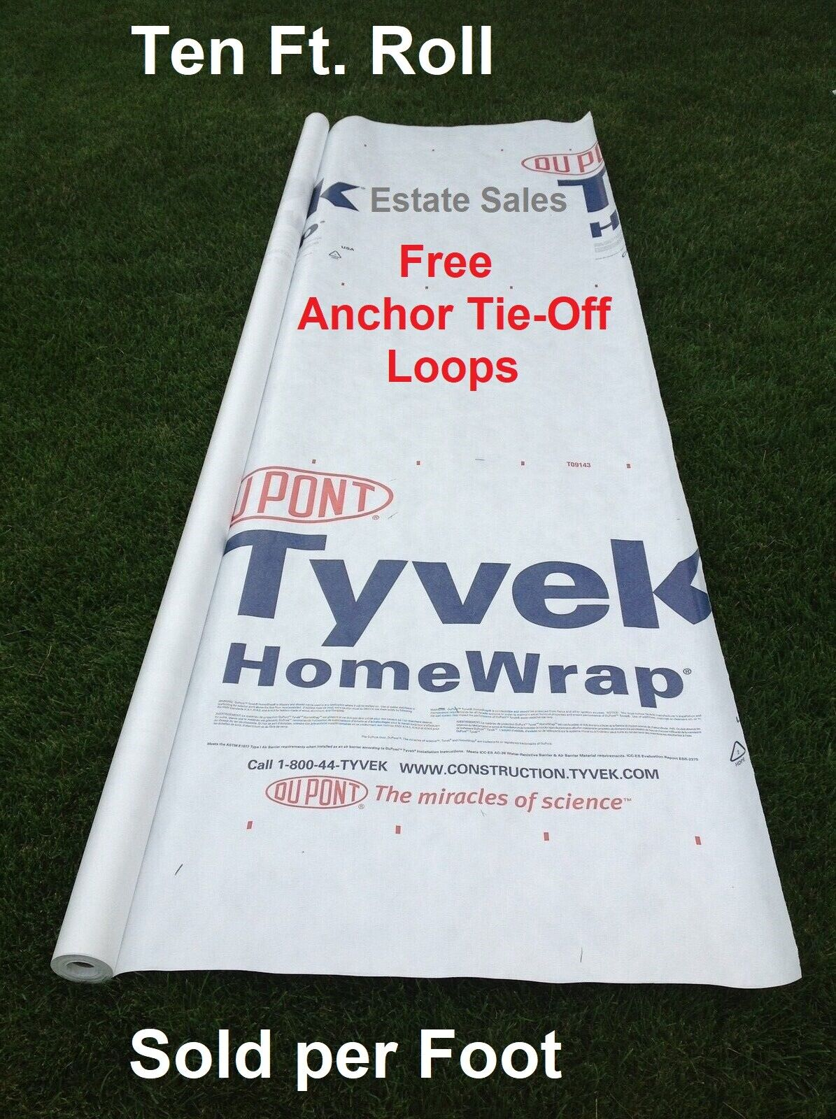 10' Tyvek Homewrap Groundcloth Tarp Hiking Camping Tent