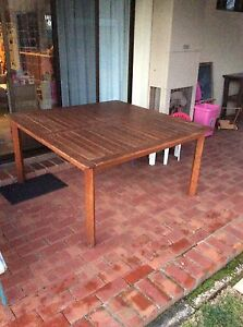 Outdoor timber table Melrose Park Mitcham Area Preview