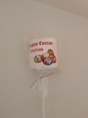 1 marshmallow lollipop Gift  Personalised Novelty Gift easter birthday