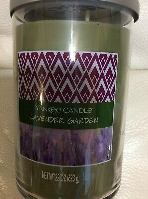 Lavender Garden Candle - Yankee Candle Lavender Garden Large Tumbler 22oz 2 Wick NEW! Herbal Spa