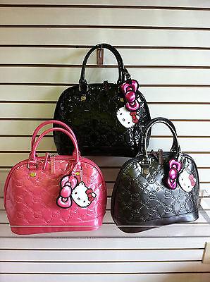 Sanrio Hello Kitty Embossed Handbag Black Or Gray by Loungefly Sanrio fc7709caa4bb2