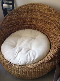 Cane wicker tub chair Ashmore Gold Coast City Preview