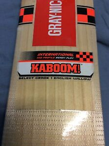 KABOOM! Gray-Nicolls Cricket Bat 2016 Model English Willow West Melbourne Melbourne City Preview