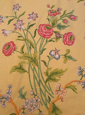 Floral Botanical Fabric Material Joan Kaminski Decorators Vintage Lee Jofa BTY for sale  Shipping to India