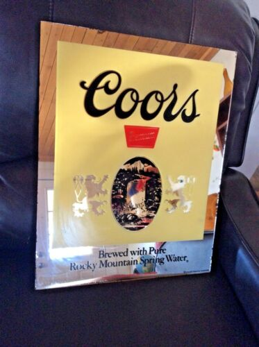 COORS Beer Vintage Mirror bar wall sign man cave intercraft
