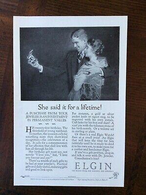 1926 vintage original ad Elgin Pocket Watch
