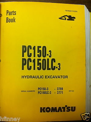 Komatsu Pc150-3 Pc150lc-3 Hydraulic Excavator Parts Manual Book New