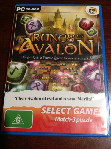 match 3 computer games - RUNES OF AVALON PC CD-ROM Select Games Match 3 Puzzle Like New Windows /Mac