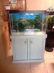 "30"" Aquarium on cabinet with light Albert Park Charles Sturt Area Preview"