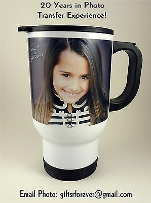 Custom Photo Travel Mugs, 16oz Personalized Gift - Personalized Photo Travel Mugs