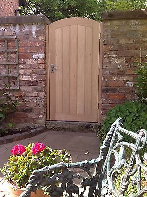 Handcrafted Solid European Oak Garden Gate And Posts Made To Your Bespoke Size
