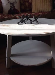 Two tier maple , shabby chic painted coffee table.  Belleville Belleville Area image 2