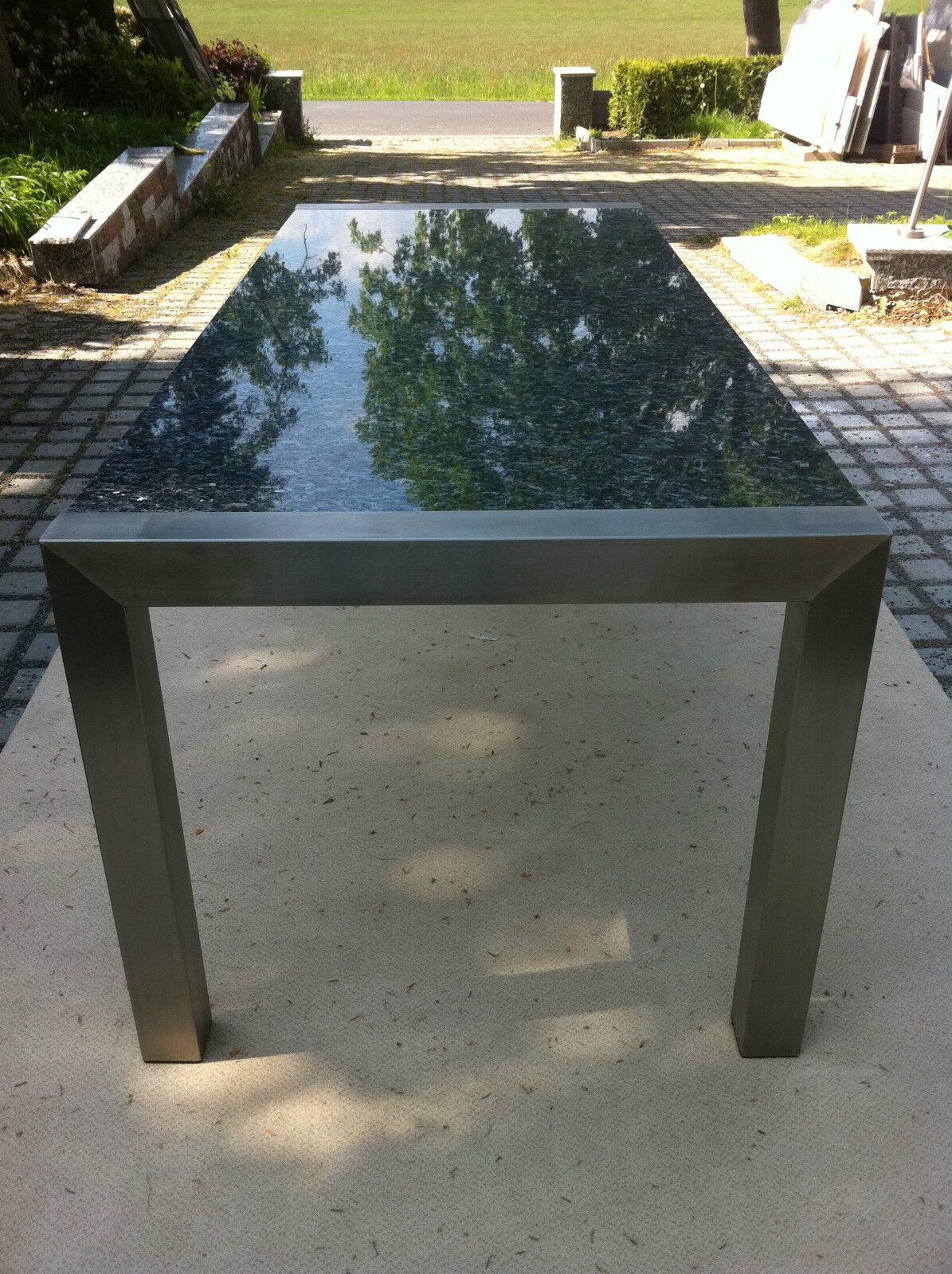 Gartentisch outdoor tisch esstisch k chentisch naturstein - Wohnzimmertisch steinplatte ...