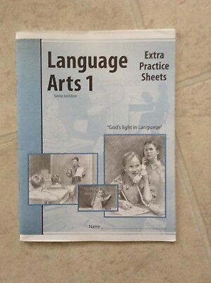 Language Arts 1 Extra Practise Sheets Christian Light Education
