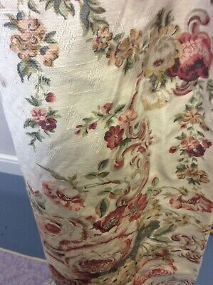 VINTAGE COUNTRY FLORAL PRINT CURTAINS FRENCH COTTAGE SHABBY CHIC 🍒