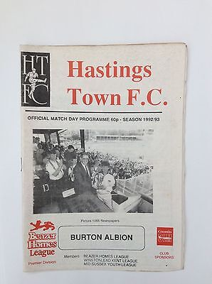 Hastings Town V Burton Albion Beazer Homes Leauge  October 1992