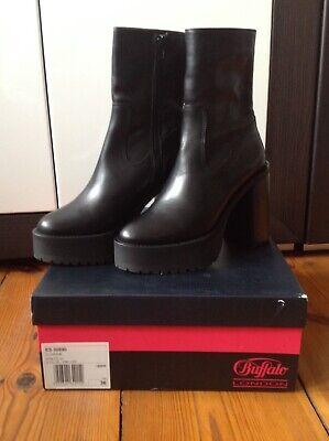 Buffalo London Damen Stiefel/ Stiefeletten Gr. 36 schwarz neu mit Karton