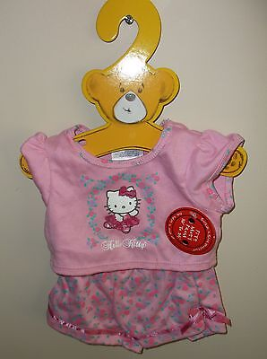 New  Build A Bear Outfit Clothes   Hello Kitty Ballerina Pajamas   Brand New