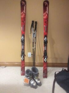 Women's New skis, boots and poles