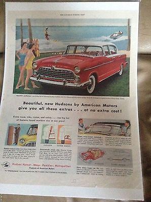 1955 Hudson Hornet Hollywood Hardtop Magazine Ad
