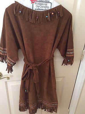 Indian brave women's Sz2/4 costume dress,Dancing w/wolves CC/Universal studios (Cc Dance Costumes)