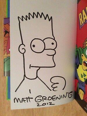 Simpsons-radioactive Man (Signiert W / Sketch Sdcc 2012 Simpsons Radioactive Man Buch von Matt Groening +)
