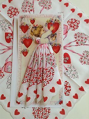 Precious New Valentine Angel Handkerchief Card