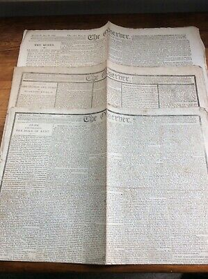 18TH/19TH CENTURY NEWSPAPERS 12 PAPERS 1786-1919...