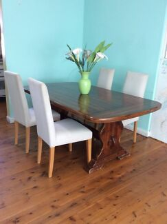 DINING TABLE EXTENDABLE SOLID TIMBER  Rockdale Rockdale Area Preview