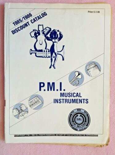 Vintage 1985/1986 P.M.I. Musical Instruments Catalog ~ Guitars ~ Drums ~ Amps