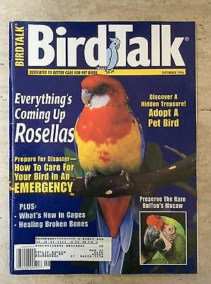 Bird Talk Magazine September 1996 Dedicated to Better Care for Pet Birds - RARE