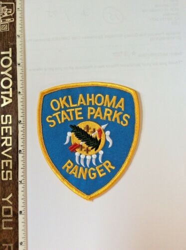 Oklahoma State Parks Ranger DNR Police Shoulder Patch New