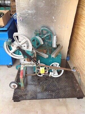 Greenlee 1818 Mechanical Bender 12- 2 Emt Imc Rigid 6 Shoes With Follow Bar