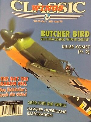 Classic Wings Magazine Butcher Bird Killer Komet Vol.18 No.1 2011 021418nonrh