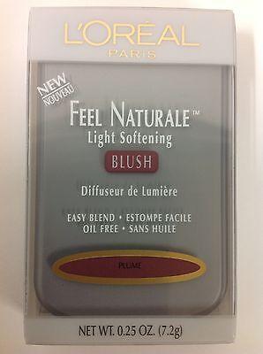 L'OREAL FEEL NATURALE LIGHT SOFTENING POWDER BLUSH PLUME NEW.