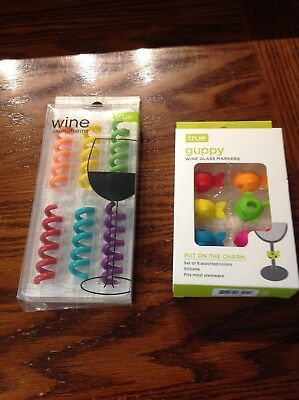 2 NEW BOXES TRUE Stem Wine Charms Guppy & Springs 6 Charms Ea Box