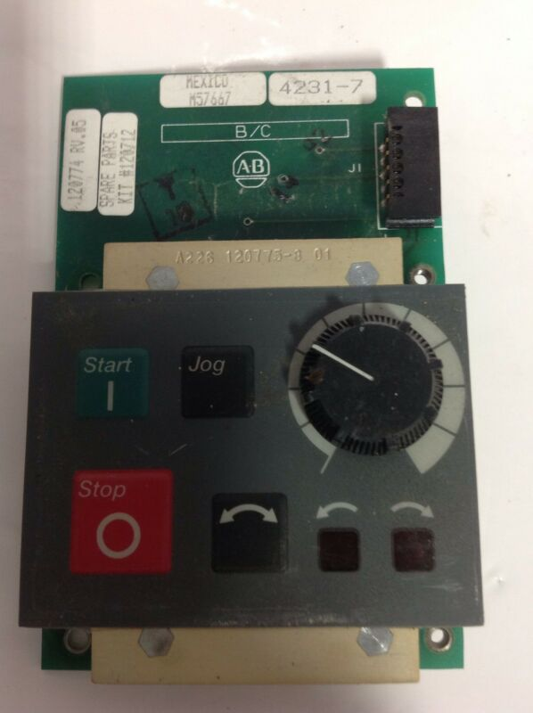 ALLEN BRADLEY  * KEYPAD DISPLAY PANEL REV 05 * 120774