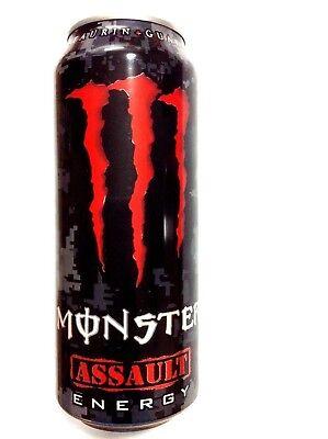 MONSTER ENERGY DRINK ASSAULT UNOPENED EMPTY CAN collectors piece