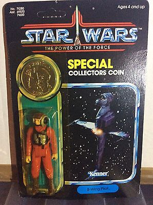 vintage star wars special collectors coin figure b wing pilot